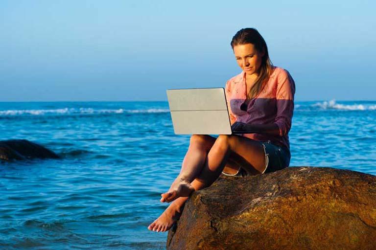 computer beach